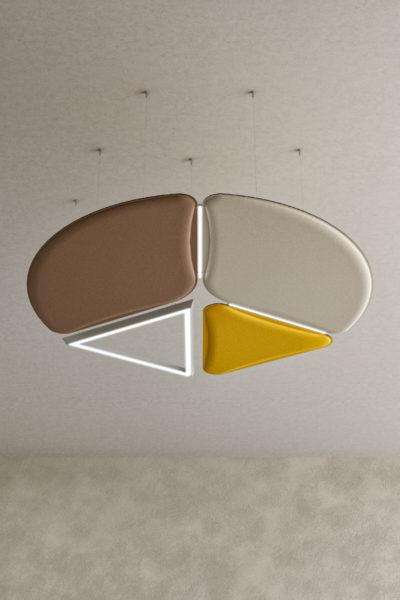 Svetila za pisarne z akustičnimi paneli