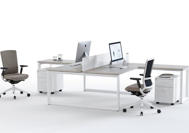 Pisalna miza Vital z loop podnožjem