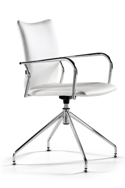 Konferenčni stoli Ikara s kromiranim podnožjem