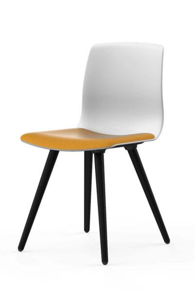 Konferenčni stol Noom 50 z lesenim podnožjem