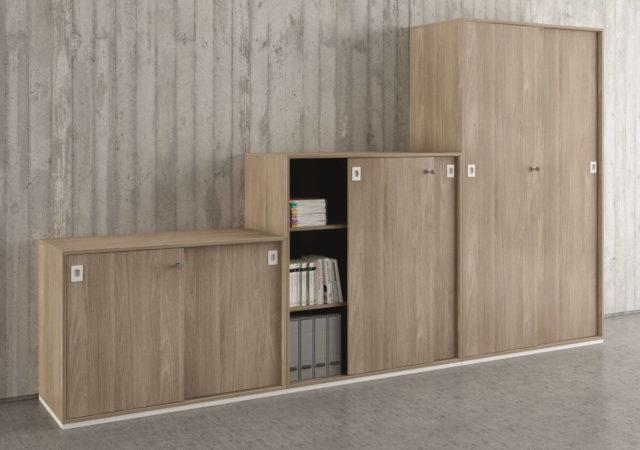 Pisarniške omare Q z drsnimi vrati